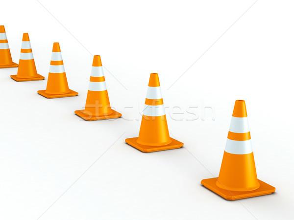 Odizolowany line ruchu 3D świadczonych pomarańczowy Zdjęcia stock © TeamC