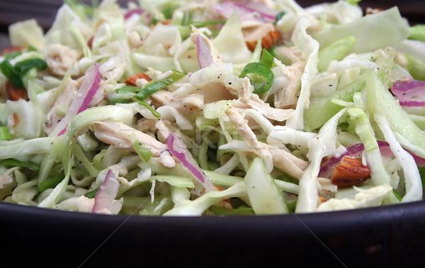 Asian sałatka z kurczakiem drewna puchar żywności Zdjęcia stock © TeamC