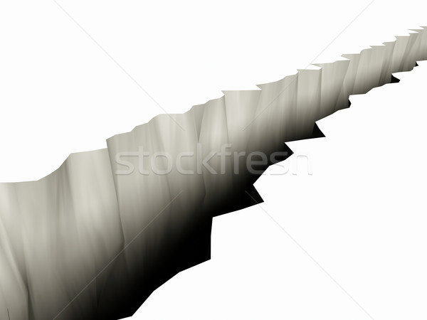 Stock photo: 3D Rendered Chasm