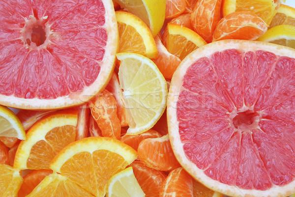 Zdjęcia stock: Cytrus · plastry · jasne · pomarańczowy · cytryny