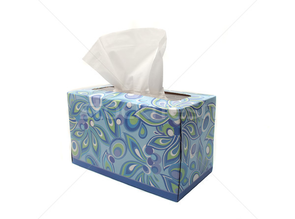 Isolated Blue Box of Tissues Stock photo © TeamC