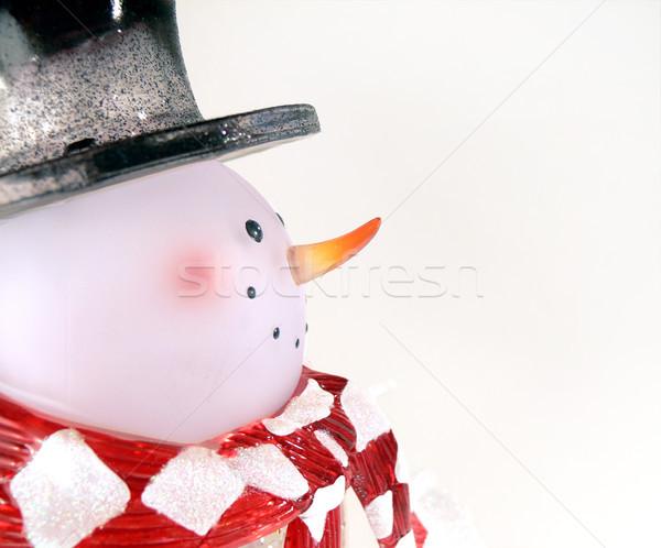 Szkła snowman profil biały śniegu tle Zdjęcia stock © TeamC