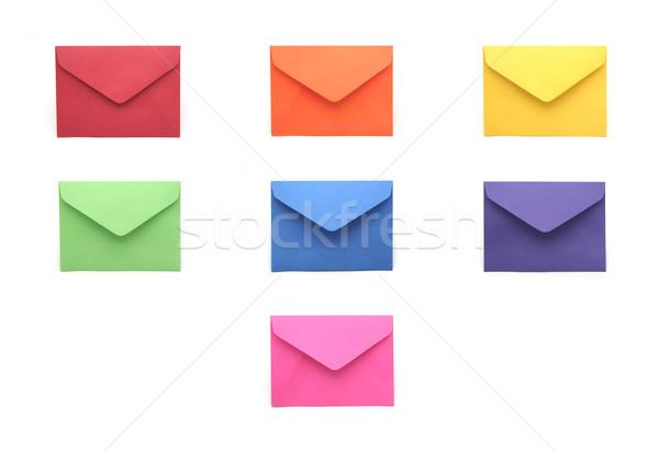Kolekcja kolorowy kolorowy działalności papieru tle Zdjęcia stock © TeamC