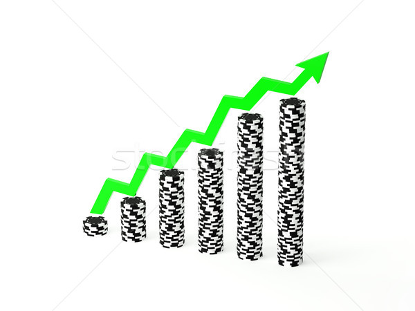 Winning Stacks of Poker Chips Stock photo © TeamC