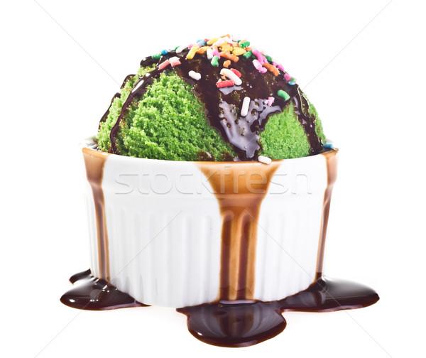Stock photo: Ice cream isolated on white background