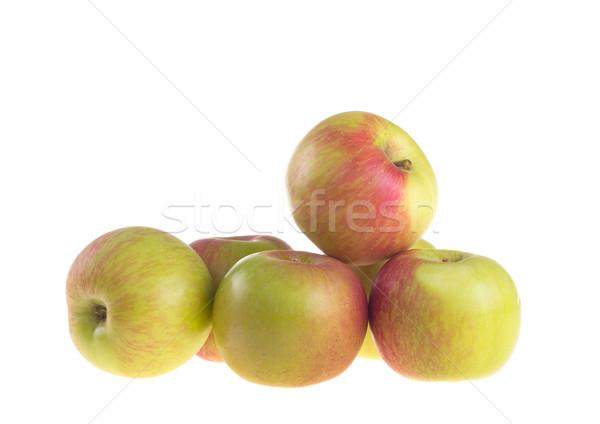 新鮮な 赤いリンゴ 白 食品 自然 背景 ストックフォト © tehcheesiong