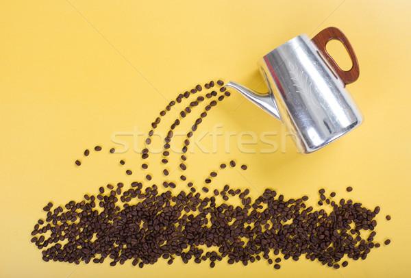 Kahve çekirdeği renk dizayn sanat kahvaltı fincan Stok fotoğraf © tehcheesiong