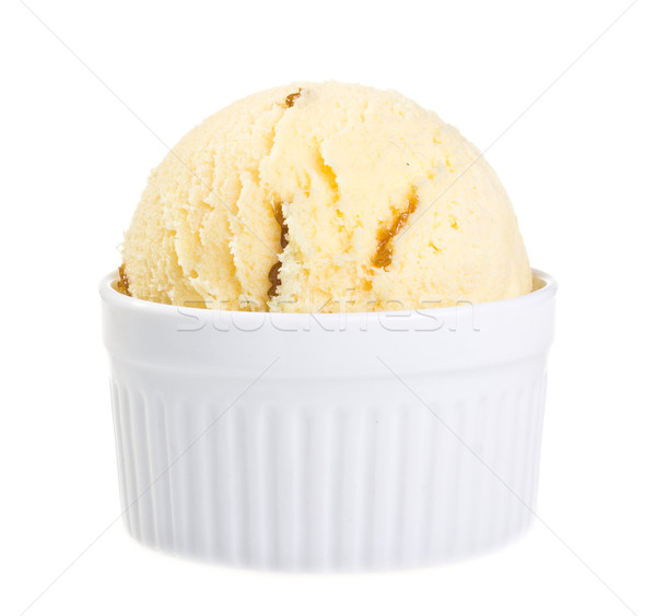 Ice cream isolated on white background Stock photo © tehcheesiong