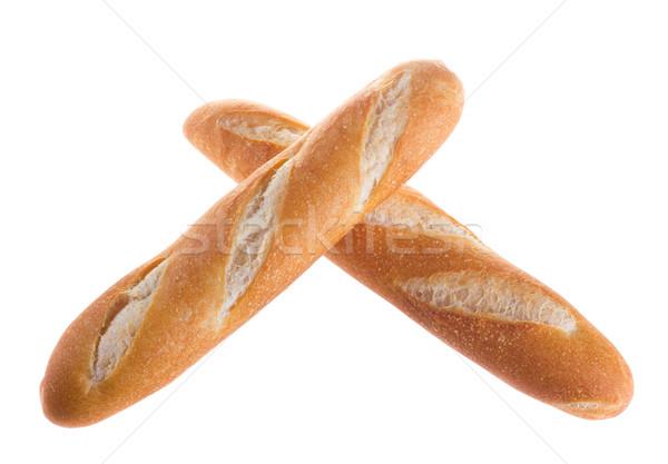 Beyaz fransız ekmek susam yalıtılmış Stok fotoğraf © tehcheesiong