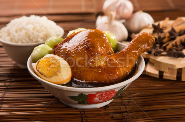 braised chicken Stock photo © tehcheesiong