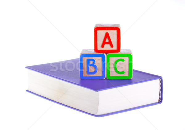 ブロック 孤立した 白 おもちゃ ビルド 教える ストックフォト © tehcheesiong