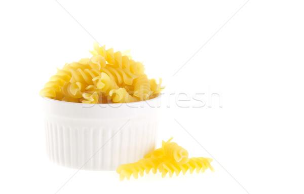 çanak sarı makarna gıda arka plan Stok fotoğraf © tehcheesiong