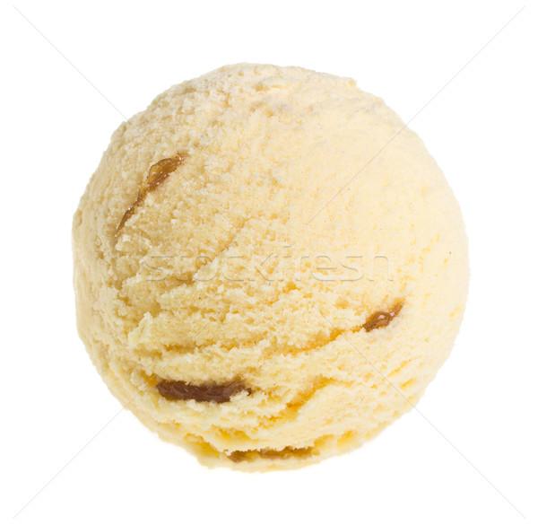 Stock fotó: Fagylalt · izolált · fehér · étel · háttér · krém