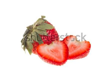 新鮮な イチゴ 食品 愛 自然 緑 ストックフォト © tehcheesiong