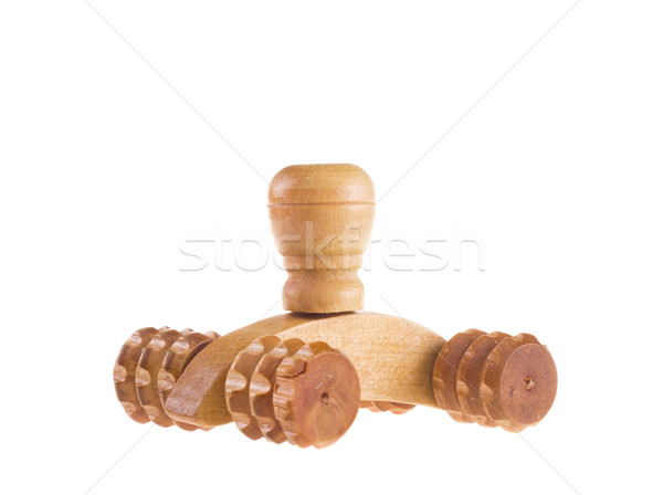 木製 マッサージ ツール 白 薬 脚 ストックフォト © tehcheesiong