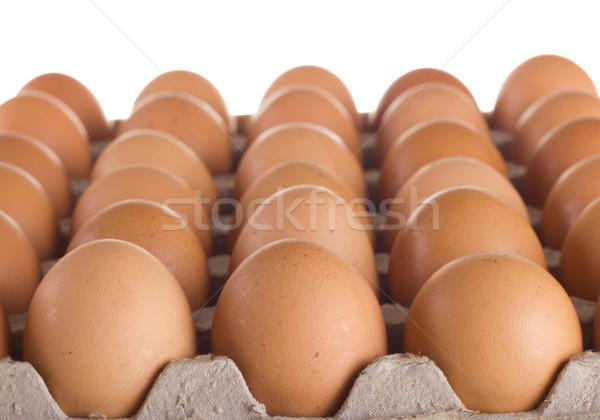 カートン 新鮮な ブラウン 卵 グループ 朝食 ストックフォト © tehcheesiong