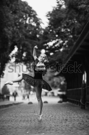 Beautiful girl sessão pier verão moda Foto stock © tekso