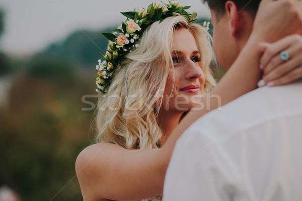 свадьба пару природы романтические невеста жених Сток-фото © tekso