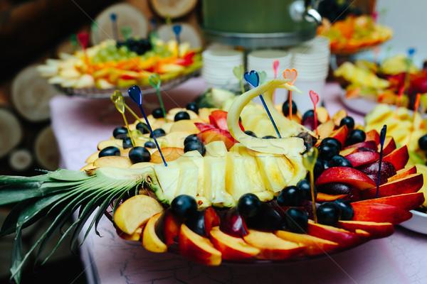 Assortiment exotique fruits fraîches Photo stock © tekso