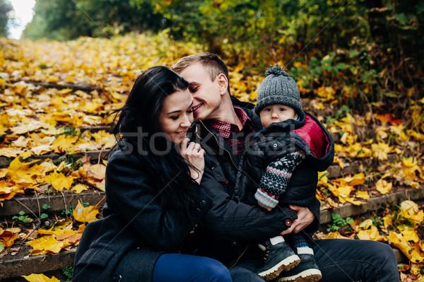 молодые семьи сын осень парка Сток-фото © tekso