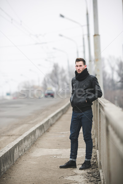 The man in the authentic boots and jeans  Stock photo © tekso