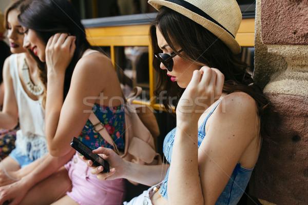 Three beautiful young girls Stock photo © tekso