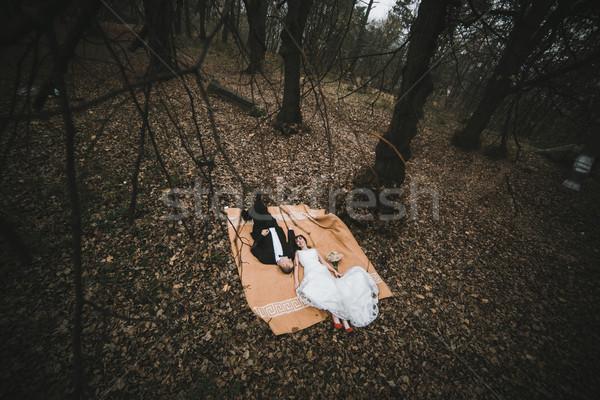 Couple lying down Stock photo © tekso