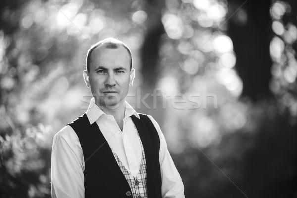 handsome man posing Stock photo © tekso