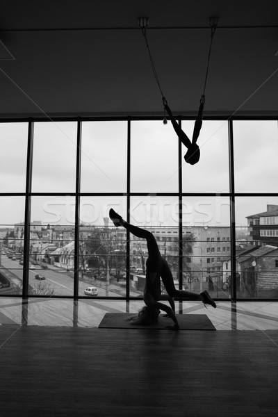 woman doing yoga Stock photo © tekso