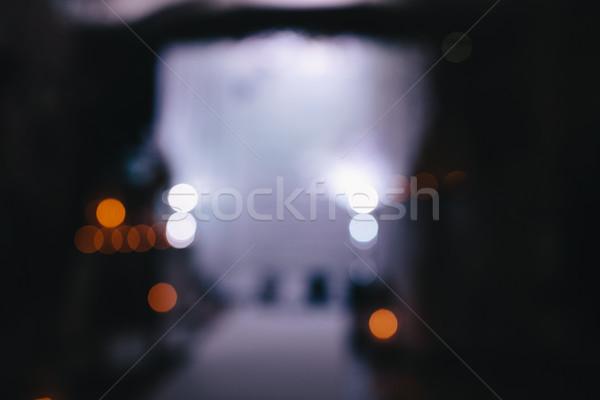 невеста жених Blur комнату свечу службе Сток-фото © tekso