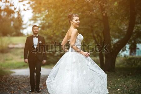 красивой свадьба пару Постоянный другой Сток-фото © tekso