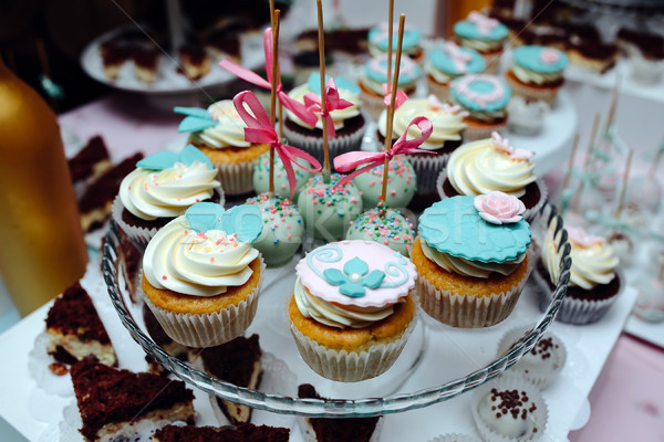 Delicious fancy wedding cake Stock photo © tekso
