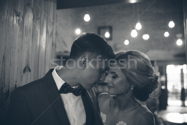The bride and groom in a cozy house Stock photo © tekso