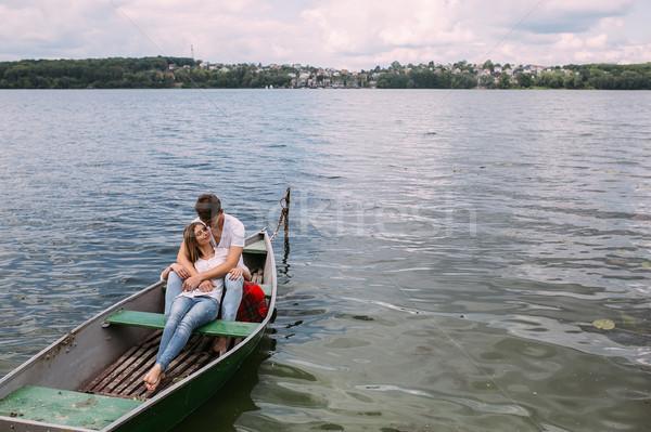 Couple in boat Stock photo © tekso
