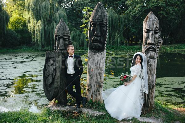young bridal couple Stock photo © tekso