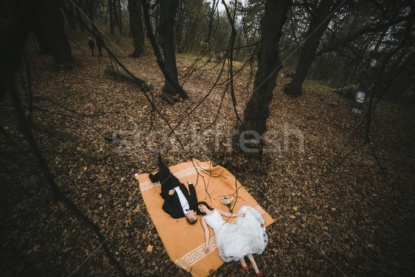 Couple lying down Stock photo © tekso