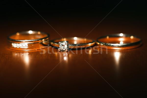Nice alliances trois amour signe vie Photo stock © tekso