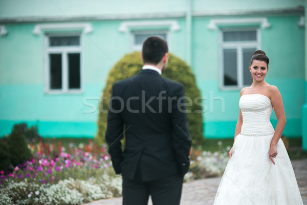 Beautiful wedding couple Stock photo © tekso