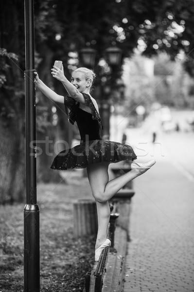 Ballerine rue de la ville fille ville beauté ballet Photo stock © tekso