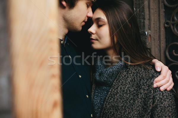 couple posing in the doorway Stock photo © tekso