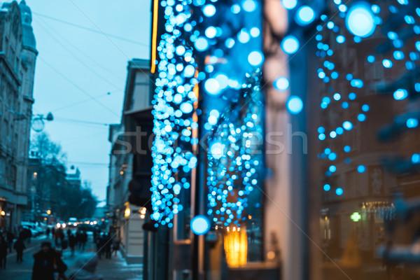 storefront with blue Illuminati Stock photo © tekso