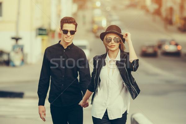 Young beautiful couple Stock photo © tekso