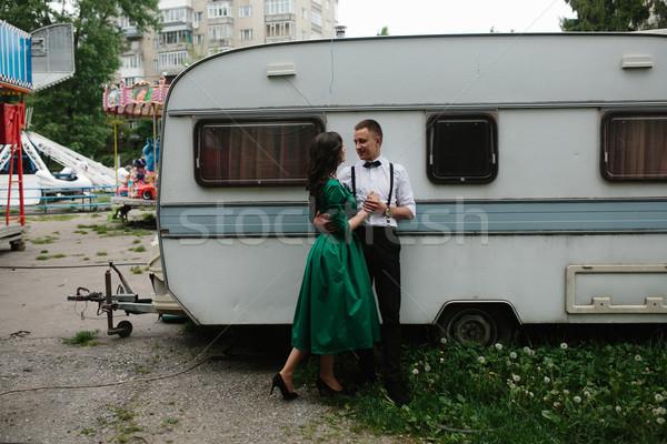 человека женщину скрытый мнение за Сток-фото © tekso