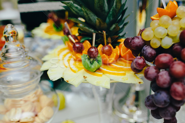 buffet with tropical fruit Stock photo © tekso