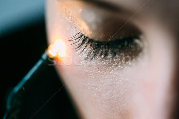 Gesloten oog heldere mode gouden Stockfoto © tekso
