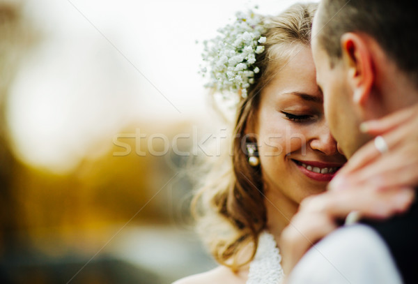 Stock photo: beautiful couple posing