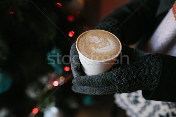 кофе любви кто-то горячий напиток новых Сток-фото © tekso