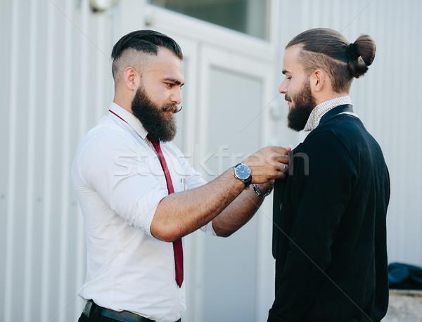 two businessmen prepared to work Stock photo © tekso