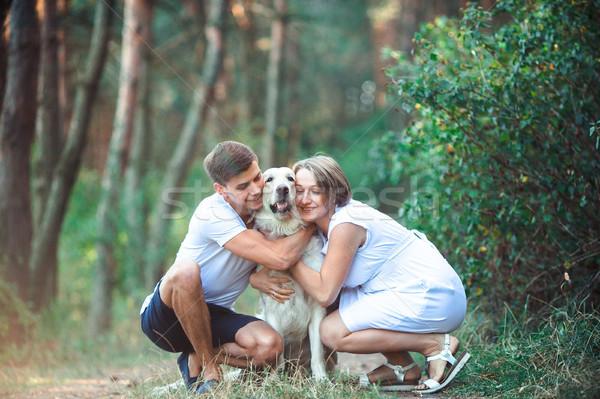 Szczęśliwy para przyszłości rodziców domowych chodzić Zdjęcia stock © tekso