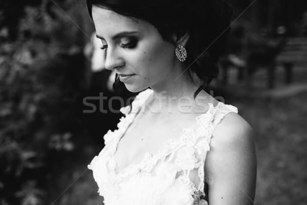 Bruid vrouw glimlach man mode Stockfoto © tekso